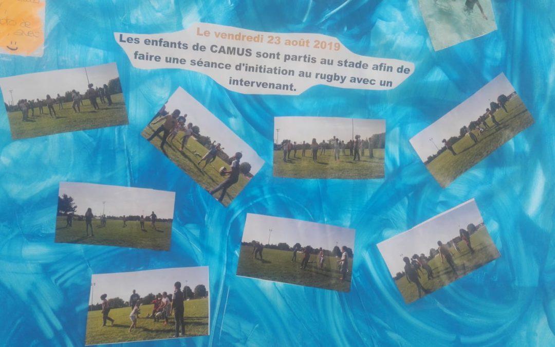 Animations rubgy pour les enfants des centres de loisirs de Villiers sur Marne